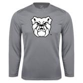 Performance Steel Longsleeve Shirt-Bulldog Head