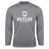 Performance Steel Longsleeve Shirt-Butler University Stacked Bulldog Head