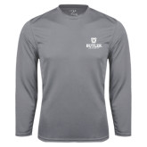 Syntrel Performance Steel Longsleeve Shirt-Butler University Stacked Bulldog Head