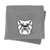 Grey Sweatshirt Blanket-Bulldog Head