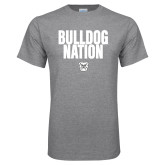 Grey T Shirt-Bulldog Nation