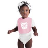 Light Pink Baby Bib-Bulldog Head