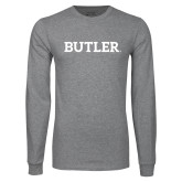 Grey Long Sleeve T Shirt-Butler