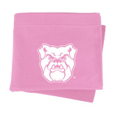 Pink Sweatshirt Blanket-Bulldog Head