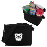 Koozie Six Pack Black Cooler-Bulldog Head