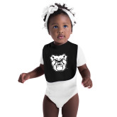 Black Baby Bib-Bulldog Head