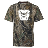 Realtree Camo T Shirt-Bulldog Head