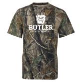 Realtree Camo T Shirt-Butler University Stacked Bulldog Head