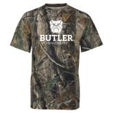 Realtree Camo T Shirt-Butler University Stacked Bulldog Head