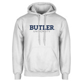 White Fleece Hoodie-Butler University