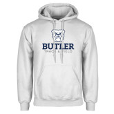 White Fleece Hoodie--Track and Field