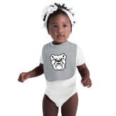Grey Baby Bib-Bulldog Head