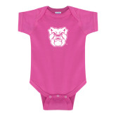 Fuchsia Infant Onesie-Bulldog Head