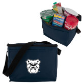 Six Pack Navy Cooler-Bulldog Head