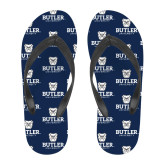 Full Color Flip Flops-Butler University Stacked Bulldog Head