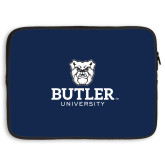 15 inch Neoprene Laptop Sleeve-Butler University Stacked Bulldog Head