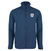 Navy Softshell Jacket-Bulldog Head