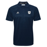 Adidas Climalite Navy Jaquard Select Polo-Bulldog Head
