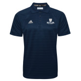 Adidas Climalite Navy Jaquard Select Polo-Butler University Stacked Bulldog Head