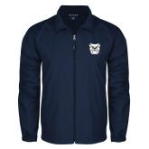 Full Zip Navy Wind Jacket-Bulldog Head