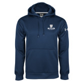 Under Armour Navy Performance Sweats Team Hoodie-Butler University Stacked Bulldog Head