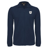 Fleece Full Zip Navy Jacket-Bulldog Head
