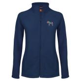 Ladies Fleece Full Zip Navy Jacket-Ivy League