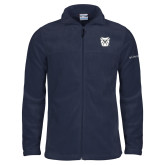 Columbia Full Zip Navy Fleece Jacket-Bulldog Head