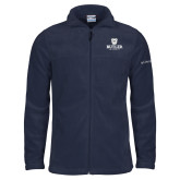 Columbia Full Zip Navy Fleece Jacket-Butler University Stacked Bulldog Head