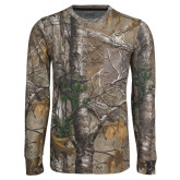 Realtree Camo Long Sleeve T Shirt w/Pocket-Bulldog Head