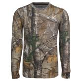 Realtree Camo Long Sleeve T Shirt w/Pocket-Bulldog Head