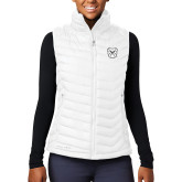 Columbia Lake 22 Ladies White Vest-Bulldog Head
