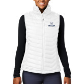 Columbia Lake 22 Ladies White Vest-Butler University Stacked Bulldog Head