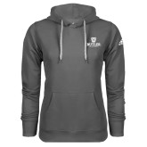 Adidas Climawarm Charcoal Team Issue Hoodie-Butler University Stacked Bulldog Head