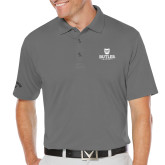 Callaway Opti Dri Steel Grey Chev Polo-Butler University Stacked Bulldog Head