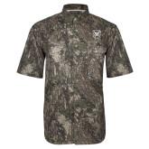 Camo Short Sleeve Performance Fishing Shirt-Bulldog Head