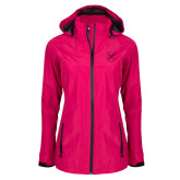 Ladies Dark Fuchsia Waterproof Jacket-Bulldog Head