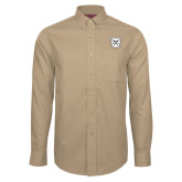 Red House Tan Long Sleeve Shirt-Bulldog Head