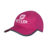 Pink/Charcoal Trail Blaze Cap-Butler University Stacked Bulldog Head