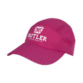 Pink Pace Setter Cap-Butler University Stacked Bulldog Head