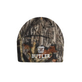 Mossy Oak Camo Fleece Beanie-Butler University Stacked Bulldog Head