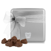 Decadent Chocolate Clusters Silver Medium Tin-Bulldog Head Engraved