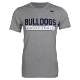 NIKE Dri Fit Dark Grey Heather Basketball  Short Sleeve Tee-