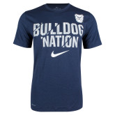 NIKE Navy Dri-Fit Legend Bulldog Nation Short Sleeve Tee-