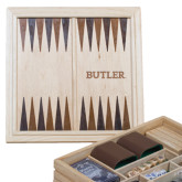 Lifestyle 7 in 1 Desktop Game Set-Butler Engraved