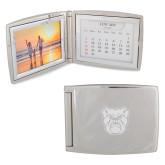 Silver Bifold Frame w/Calendar-Bulldog Head Engraved