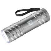 Astro Silver Flashlight-Bulldog Head Engraved
