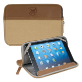 Field & Co. Brown 7 inch Tablet Sleeve-Bulldog Head Engraved