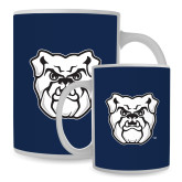 Full Color White Mug 15oz-Bulldog Head