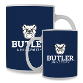 Full Color White Mug 15oz-Butler University Stacked Bulldog Head